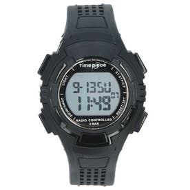 ノーブランド No Brand time piece 電波時計 TPW-001 TPW-002 (TPW-002.BK)
