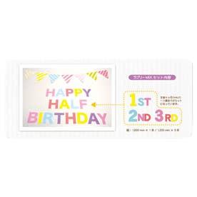 ノーブランド No Brand バースデーペーパー フラッグセットガーランド 6か月~3歳 BDZ01 (ラブリーミックス)