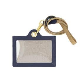 Lacee ラセ メモホルダー付きIDカードホルダー (ネイビー)