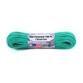 ノーブランド No Brand アトウッド・ロープ MFG ATWOOD ROPE MFG. パラコード 100フィート 無地 (11.ティール)