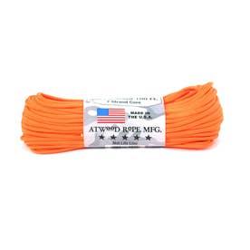 ノーブランド No Brand アトウッド・ロープ MFG ATWOOD ROPE MFG. パラコード 100フィート 無地 (15.ネオンオレンジ)