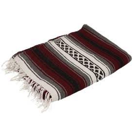 ノーブランド No Brand EL PASO エルパソ ONW Traditional Falsa Blankets (バーガンディ)