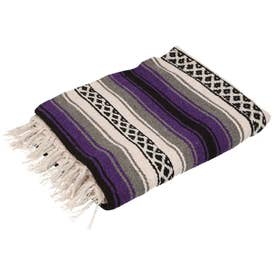 EL PASO エルパソ ONW Traditional Falsa Blankets (パープル)