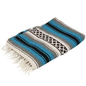 ノーブランド No Brand EL PASO エルパソ ONW Traditional Falsa Blankets (ターコイズ)