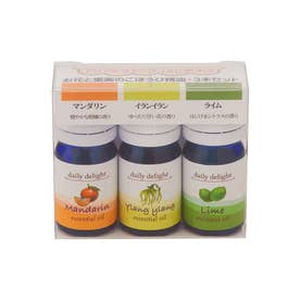 ノーブランド No Brand Daily delight エッセンシャルオイル 精油3本セット (お花と果実のごほうび)