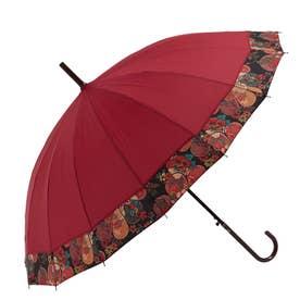 ノーブランド No Brand amusant sous la pluie 16本骨 55cm 和柄 長傘 (16140.歌舞伎切継WI)