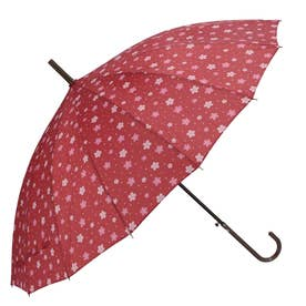 ノーブランド No Brand amusant sous la pluie 16本骨 55cm 和柄 長傘 (36070.桜WI)