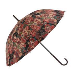 ノーブランド No Brand amusant sous la pluie 16本骨 55cm 和柄 長傘 (16130.歌舞伎BK)