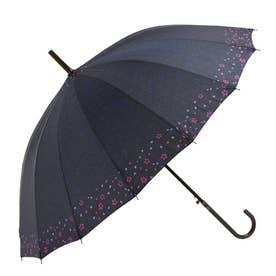 amusant sous la pluie 16本骨 55cm 和柄 長傘 (36010.淵桜NV)