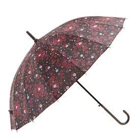 ノーブランド No Brand amusant sous la pluie 16本骨 55cm 和柄 長傘 (16120.薄紅桜BK)