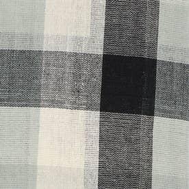 ノーブランド No Brand チェックマルチカバー 225×150 (53337.ブラック)