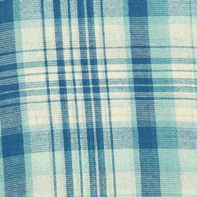 ノーブランド No Brand チェックマルチカバー 225×150 (53349.ブルーライトブルー)