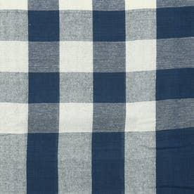 ノーブランド No Brand チェックマルチカバー 225×150 (53218.ネイビー)