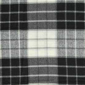 ノーブランド No Brand チェックマルチカバー 225×150 (53222.ブラック)
