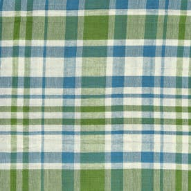 ノーブランド No Brand チェックマルチカバー 225×150 (53223.グリーン)