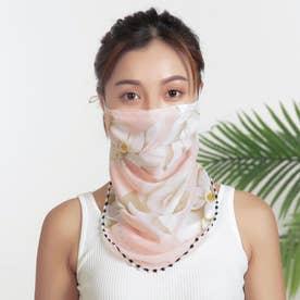 ノーブランド No Brand mask01 フェイスカバー 【返品不可商品】(ピンク地×百合)