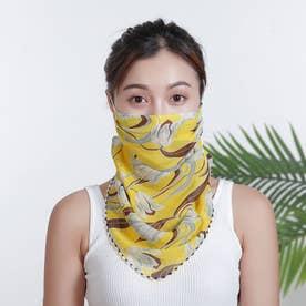 ノーブランド No Brand mask01 フェイスカバー 【返品不可商品】(黄色地×朝顔)