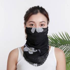 ノーブランド No Brand mask01 フェイスカバー 【返品不可商品】(黒地×白花)