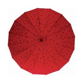 サントス santos #JK-46 16本骨撥水傘 わにゃんこ (エンジ)
