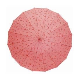 サントス santos #JK-46 16本骨撥水傘 わにゃんこ (ピンク)