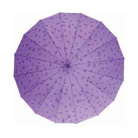 ノーブランド No Brand サントス santos #JK-46 16本骨撥水傘 わにゃんこ (紫)