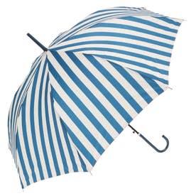 ノーブランド No Brand amusant sous la pluie 58cm グラスファイバー 長傘 (23490.ストライプ_ネイビー)
