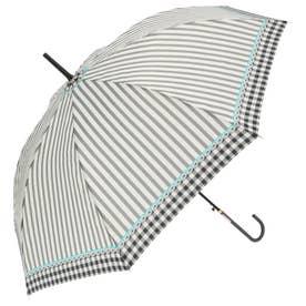 ノーブランド No Brand amusant sous la pluie 58cm グラスファイバー 長傘 (23200.ギンガムストライプ_ブラック)