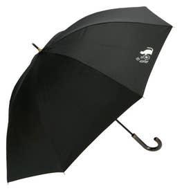 Mikuni 晴雨兼用 裏プリント 黒PUコーティング UVCUT率99.9% (ステッチフラワーCAT.BK)