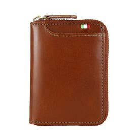MILAGRO イタリアンレザー ボックスコインケース横型 (ブラウン)