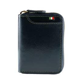 MILAGRO イタリアンレザー ボックスコインケース横型 (ネイビー)