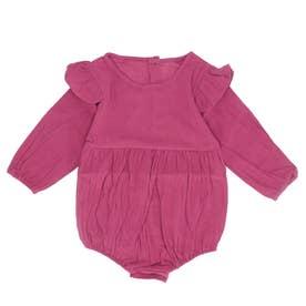 赤ちゃん ベビー カバーオール (パープル)