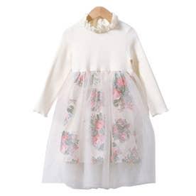 プリンセスドレス 花柄 (ホワイト)