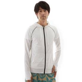 【返品不可商品】ノーブランド No Brand ラッシュガード メンズ Bi color&柄 (ホワイトxブラック)