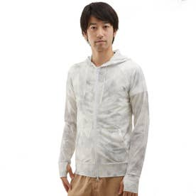【返品不可商品】ノーブランド No Brand ラッシュガード メンズ Bi color&柄 (タイダイグレー)