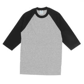 PRO CLUB プロクラブ 135 クルーネック ベースボール Tシャツ (Hグレーxブラック(袖))
