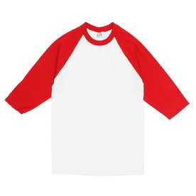 PRO CLUB プロクラブ 135 クルーネック ベースボール Tシャツ (ホワイトxレッド(袖))
