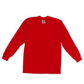 PRO CLUB 114 長袖 クルーネック HEAVY WEIGHT Tシャツ (レッド)