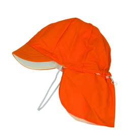 フラップ付き体操帽子 取り外しタイプ (04オレンジ)