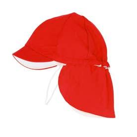 フラップ付き体操帽子 取り外しタイプ (05レッド)
