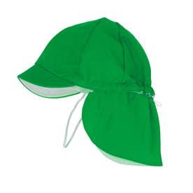 フラップ付き体操帽子 取り外しタイプ (07グリーン)