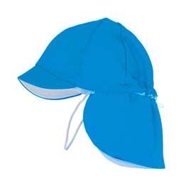 フラップ付き体操帽子 取り外しタイプ (10ブルー)