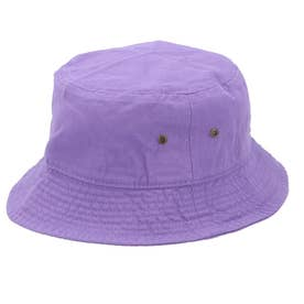 ノーブランド No Brand NEWHATTAN ニューハッタン #1500 stonewash BUCKET HAT solid (ラベンダー)