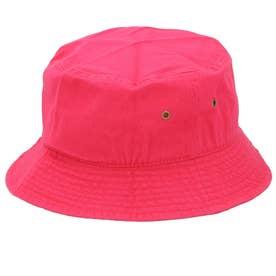 ノーブランド No Brand NEWHATTAN ニューハッタン #1500 stonewash BUCKET HAT solid (ホットピンク)