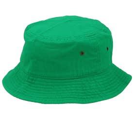 ノーブランド No Brand NEWHATTAN ニューハッタン #1500 stonewash BUCKET HAT solid (ケリーグリーン)