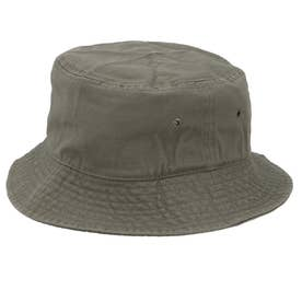 ノーブランド No Brand NEWHATTAN ニューハッタン #1500 stonewash BUCKET HAT solid (オリーブ)