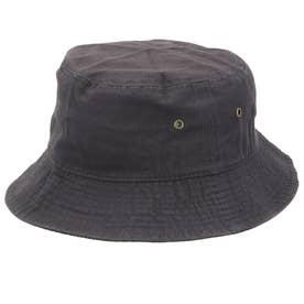 ノーブランド No Brand NEWHATTAN ニューハッタン #1500 stonewash BUCKET HAT solid (チャコール)