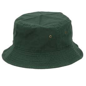 ノーブランド No Brand NEWHATTAN ニューハッタン #1500 stonewash BUCKET HAT solid (ダークグリーン)