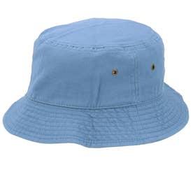 ノーブランド No Brand NEWHATTAN ニューハッタン #1500 stonewash BUCKET HAT solid (スカイブルー)