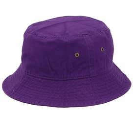ノーブランド No Brand NEWHATTAN ニューハッタン #1500 stonewash BUCKET HAT solid (パープル)