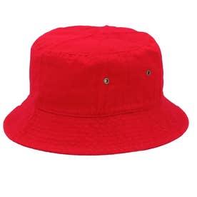 ノーブランド No Brand NEWHATTAN ニューハッタン #1500 stonewash BUCKET HAT solid (レッド)